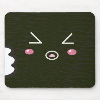 "Kawaii Sushi Roll ""Close-up""with Bitemark Mouse Pad"