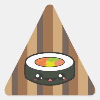 Kawaii sushi time triangle sticker
