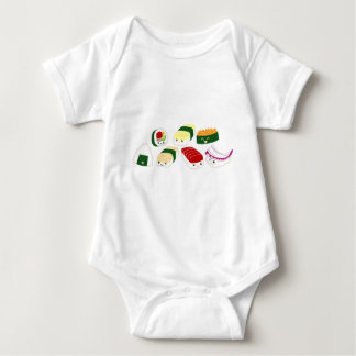 Kawaii Sushi with faces Baby Bodysuit
