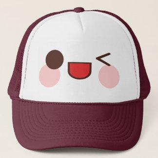 Kawaii Sweet Winky Face Happy Eyes Smile Friend Trucker Hat