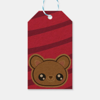 Kawaii teddy bear gift tag