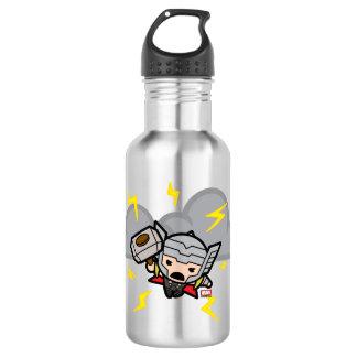 Kawaii Thor With Lightning 532 Ml Water Bottle