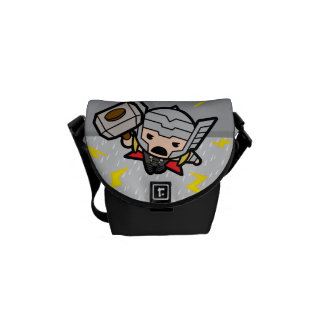 Kawaii Thor With Lightning Courier Bags