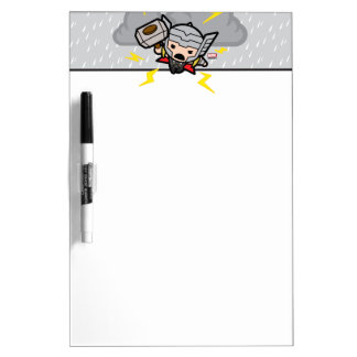 Kawaii Thor With Lightning Dry Erase Board