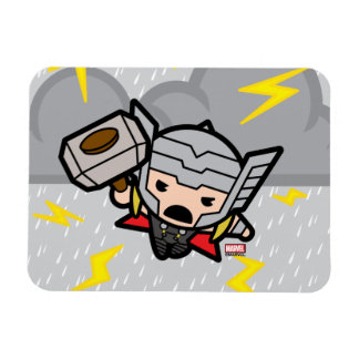 Kawaii Thor With Lightning Magnet