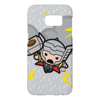 Kawaii Thor With Lightning Samsung Galaxy S7 Case