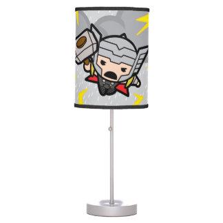 Kawaii Thor With Lightning Table Lamp