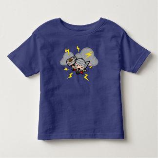 Kawaii Thor With Lightning Toddler T-shirt