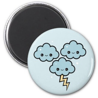 Kawaii Thunder Clouds Magnet