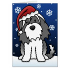 Kawaii Tibetan Terrier Christmas Card