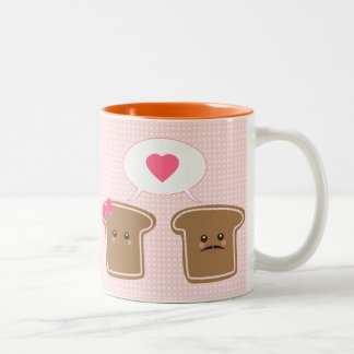 Kawaii Toast Love Two-Tone Coffee Mug