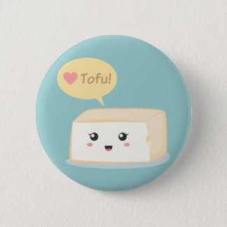 Kawaii tofu asking people to love tofu 2 inch round button