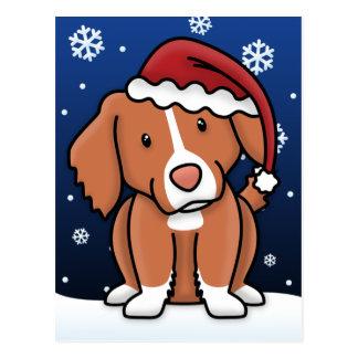 Kawaii Toller Christmas Postcard