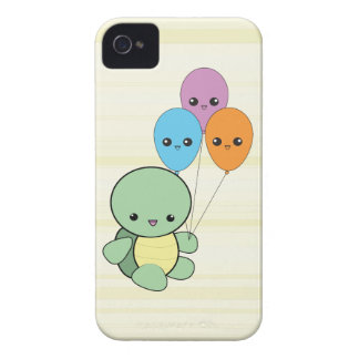 Kawaii Turtle with Balloons iPhone case