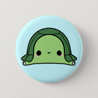 Kawaii Turtle (You change the Background!) 2 Inch Round Button