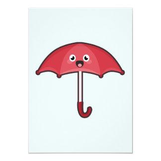 "Kawaii Umbrella 5"" X 7"" Invitation Card"