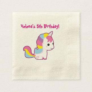 Kawaii Unicorn Paper Napkin