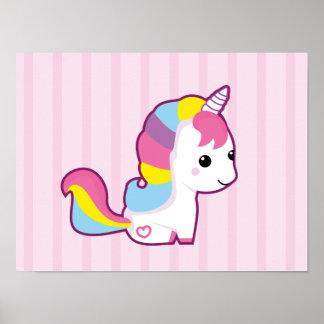 Kawaii Unicorn Poster