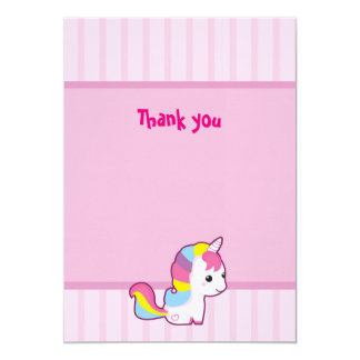 Kawaii Unicorn Thank you Card