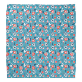 Kawaii Usagi Floral Pattern Bandanas