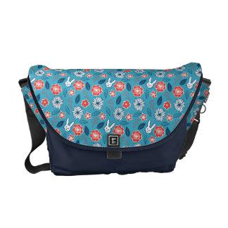Kawaii Usagi Floral Pattern Commuter Bag