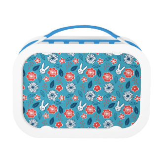 Kawaii Usagi Floral Pattern Lunch Box
