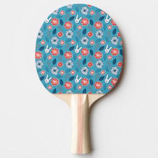 Kawaii Usagi Floral Pattern Ping Pong Paddle