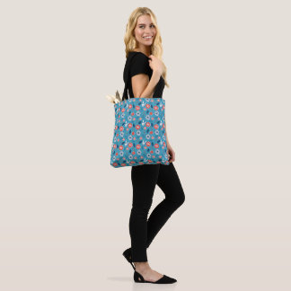 Kawaii Usagi Floral Pattern Tote Bag