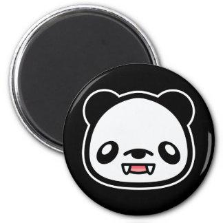 Kawaii Vampire Panda 2 Inch Round Magnet