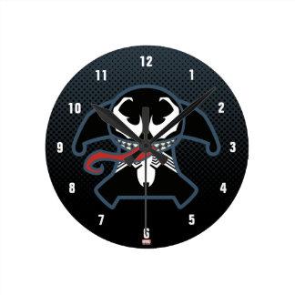 Kawaii Venom Tongue Lash Round Clock