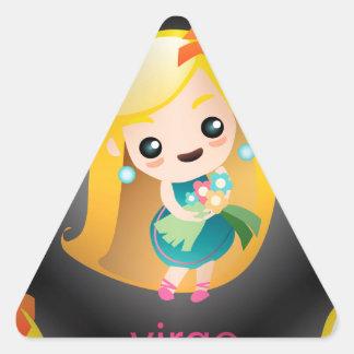 kawaii virgo triangle sticker