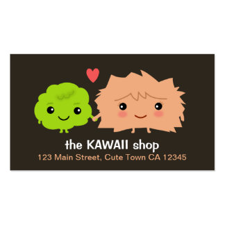 Kawaii Wasabi and Ginger Love Each Other Business Card