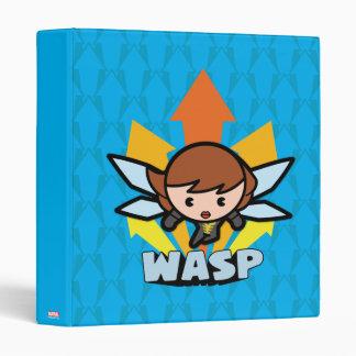Kawaii Wasp Flying 3 Ring Binder