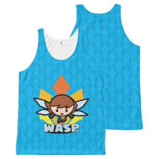 Kawaii Wasp Flying All-Over-Print Tank Top