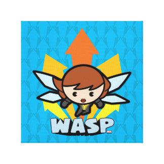 Kawaii Wasp Flying Canvas Print