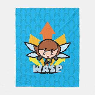 Kawaii Wasp Flying Fleece Blanket