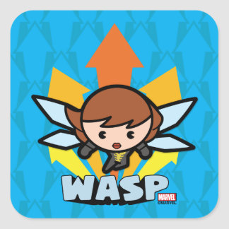 Kawaii Wasp Flying Square Sticker