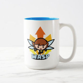 Kawaii Wasp Flying Two-Tone Coffee Mug