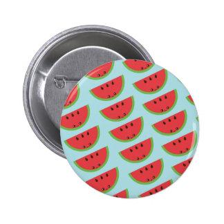 Kawaii Watermelon 2 Inch Round Button