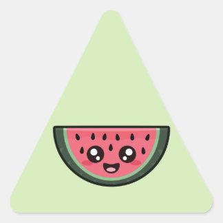 Kawaii Watermelon Triangle Sticker