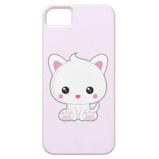 Kawaii White Cat iPhone 5 Covers