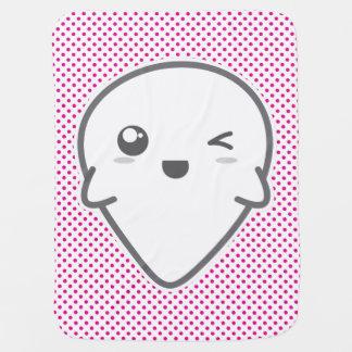 Kawaii Winking Ghost Baby Blanket