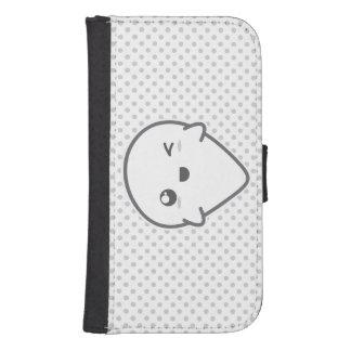 Kawaii Winking Ghost Samsung Wallet Case Phone Wallet Case