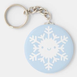 Kawaii Winter Snowflake Keychain