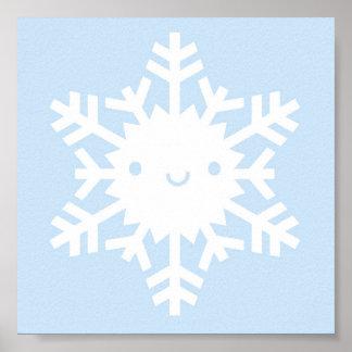 Kawaii Winter Snowflake Poster