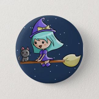Kawaii Witch Badge 2 Inch Round Button