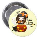 Kawaiii Halloween 3 Inch Round Button