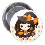 Kawaiii Halloween witch 3 Inch Round Button