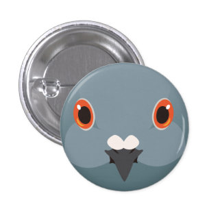 kawarabato - Rock dove 1 Inch Round Button