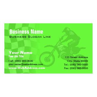 Kawasaki Green Motocross Business Card